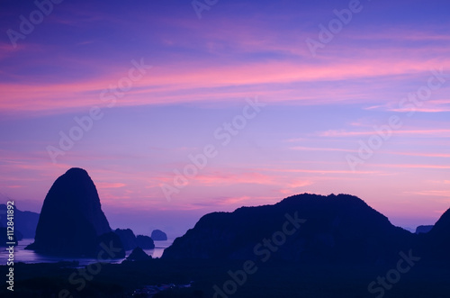 Printed kitchen splashbacks Purple Amazing sunset in Thailand