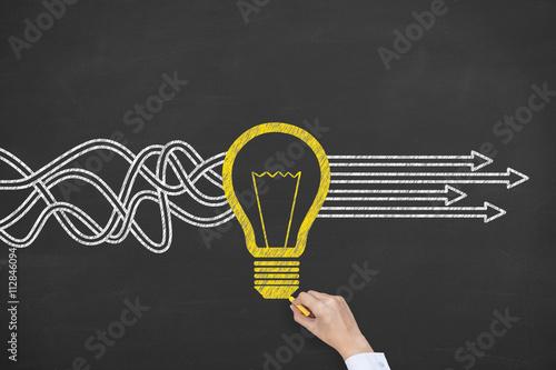 Obraz New Bright Idea Solution Concept - fototapety do salonu