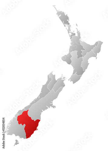 Photo  Map - New Zealand, Otago