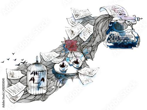 Foto auf Leinwand Gemälde inspiration