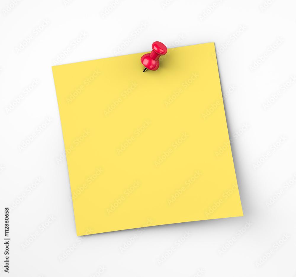 Fototapety, obrazy: Blank post it note