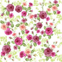 Panel Szklany Podświetlane Róże Spring floral pattern