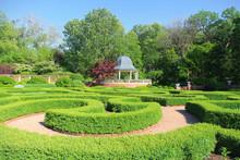 English Gardens In Saint Louis Botanical Garden.