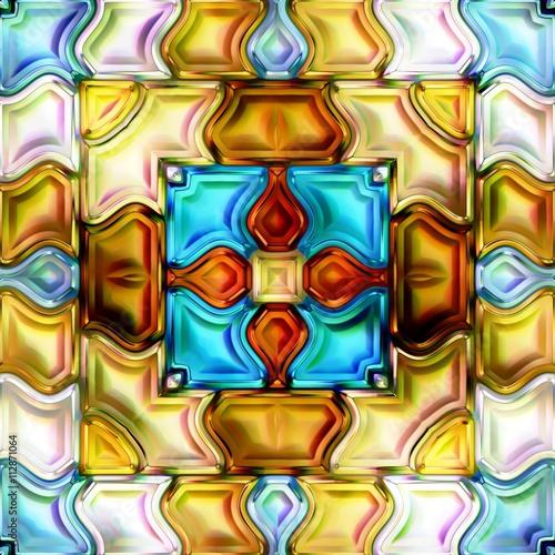 bezszwowej-tekstury-tla-3d-abstrakcjonistyczna-blyszczaca-kolorowa-ilustracja