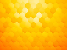 Yellow Hexagon Abstract Backgr...