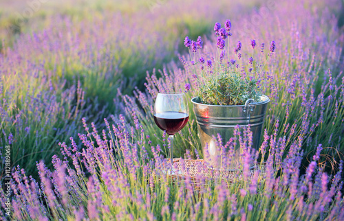 Summer flowers and wine.