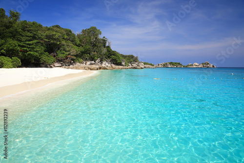Photo Stands Turquoise Similan beach Thailand,beach clear water,beach island