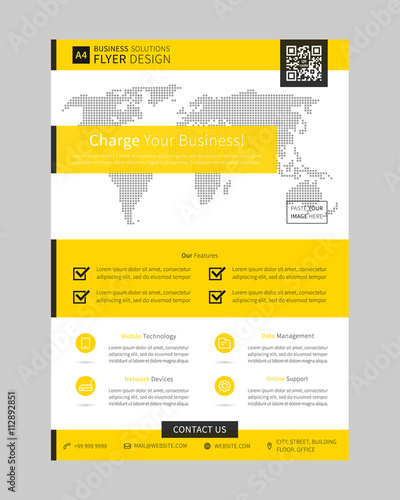 promotion flyer leaflet layout vector design on white background