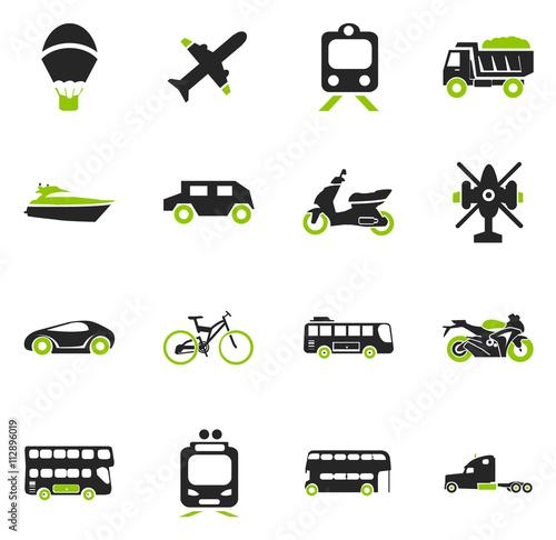 Fotografie, Tablou  Transport types icons set