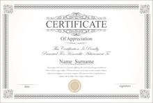 Retro Vintage Certificate Or D...