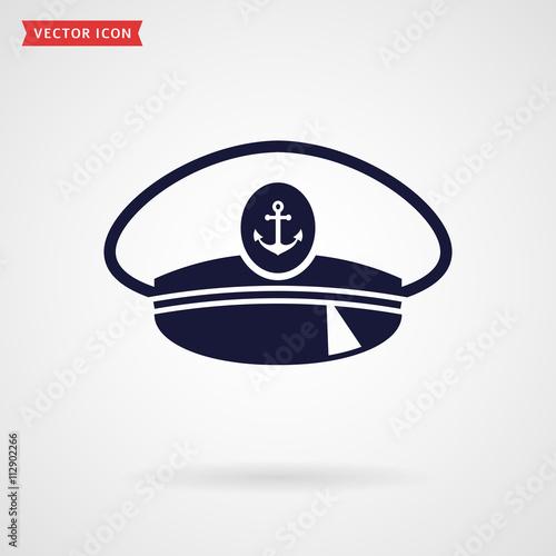 Photo Captain hat. Vector icon.