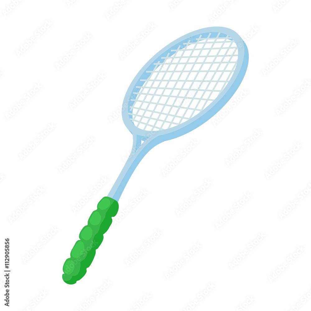Photo Art Print Tennis Racket Icon Cartoon Styl Europosters