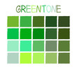 Greentone Color Tone without Name Vector Illustration