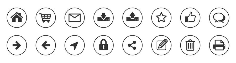 Web icon button set