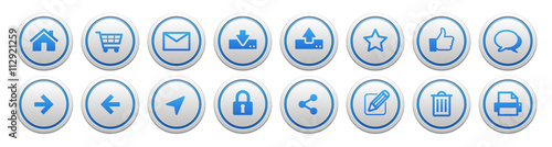Fotografía  Web icon button set