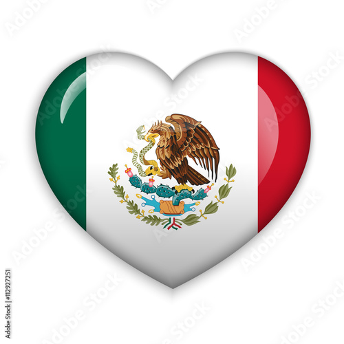 Love Mexico Flag Heart Glossy Button Buy This Stock Vector And