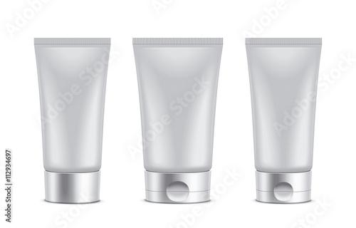 Fotografie, Obraz  Tube. Clear packaging illustartion.