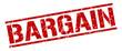 bargain red grunge square vintage rubber stamp