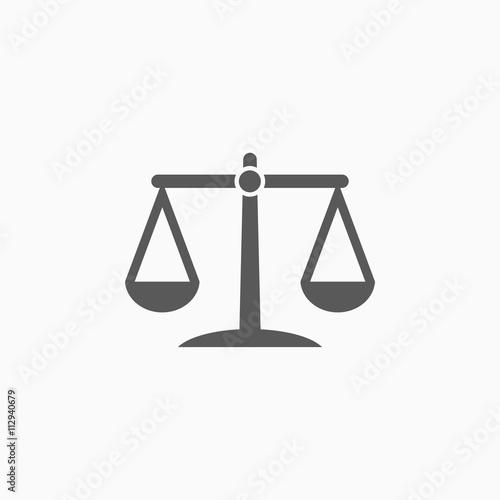 justice scales icon Canvas