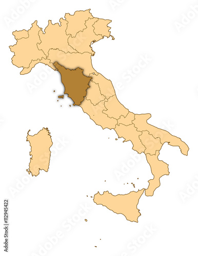 Map - Italy, Tuscany – kaufen Sie diese Illustration und finden Sie ...