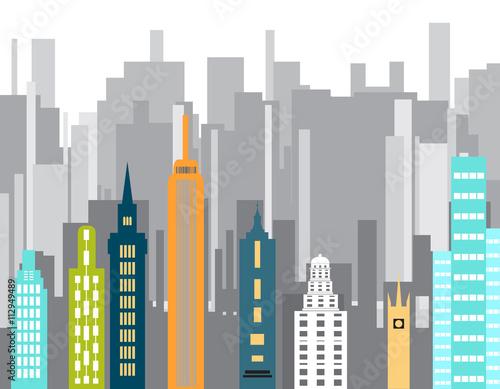 kolor-wektora-budynku