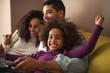 Leinwanddruck Bild - Happy family time