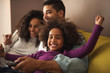 Leinwandbild Motiv Happy family time