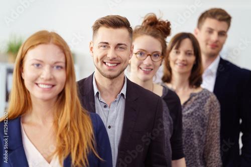 Fotografiet  erfolgreiches team im büro