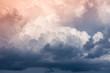 Leinwandbild Motiv storm clouds
