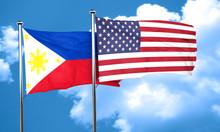 Philippines Flag, 3D Rendering