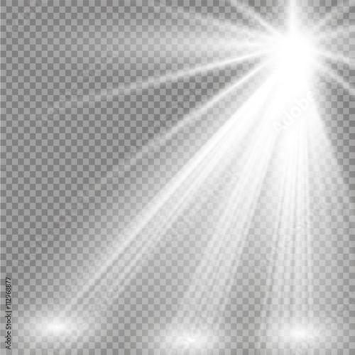 Spoed Foto op Canvas Licht, schaduw Vector spotlight. Light effect