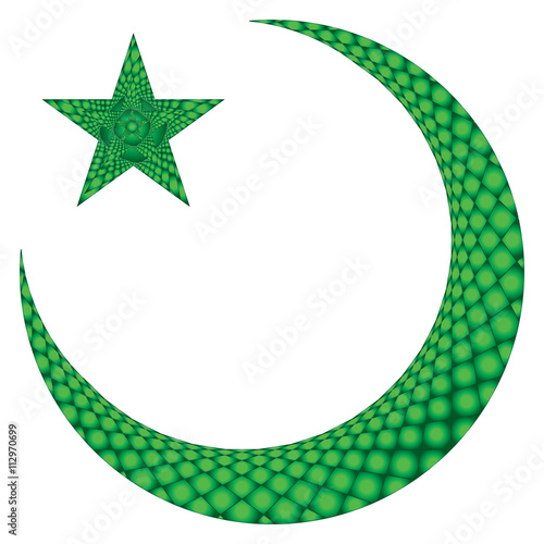 Islamic Muslim Holiday Celebration Green Abstract Modern Background