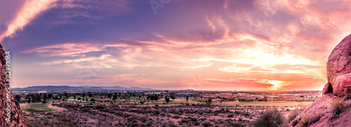 Photo Stands Arizona Beautiful colorful sunset over Phoenix,Az,USA