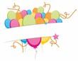 Chmurka kolorowych baloników