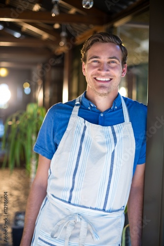 Portrait of smiling chef Poster