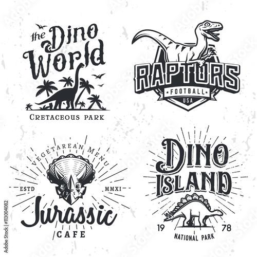 Obraz na plátně  Dinosaur Vector Logo Set