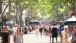 Crowdy street in Barcelona Spain