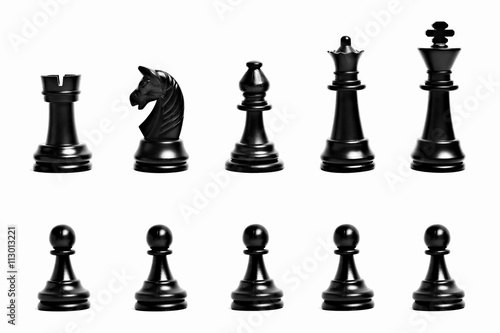 Leinwand Poster Chess figures isolated