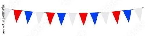 Fotografia  Bannière. Guirlandes, fanions, bleu, blanc, rouge (2b)