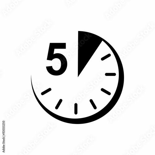 Cuadros en Lienzo  5 minutes icon, simple style