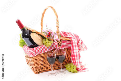 Foto op Plexiglas Picknick picnic basket