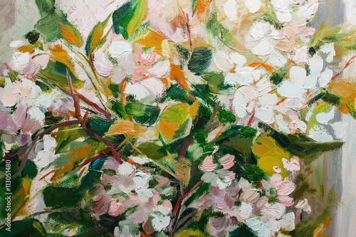 Oil Painting, Impressionism style, texture painting, flower stil - 113051480