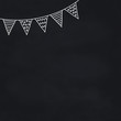 chalkboard with hand drawn bunting