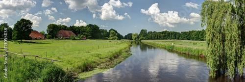 Fluss - Landschaft in Niedersachsen Canvas