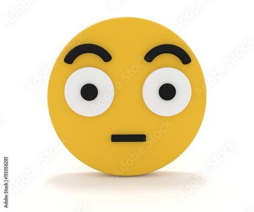 Enttäuschter Smiley