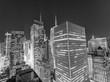 Panoramic skyscrapers view of New York CIty - Night skyline - NY