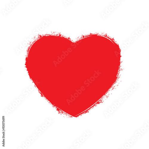 Photo sur Toile Croquis dessinés à la main des animaux Heart grunge logo with fill space. Vector graphic design