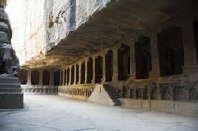 The Ellora Caves, Temples Cut Into Solid Rock, Near Aurangabad, Maharashtra