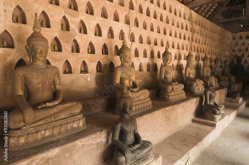 Poster Wat Si Saket, Vientiane, Laos, Indochina, Southeast Asia, Asia