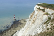 White Chalk Cliff And Lighthouse, Beachy Head, Sussex